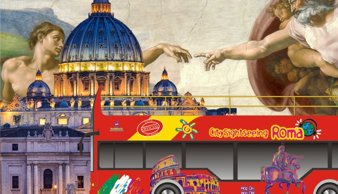 梵蒂冈博物馆、西斯廷礼拜堂和圣彼得大教堂导览游+24/48小时随上随下观光巴士
